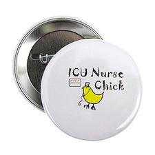 icu nurse chick gear Button