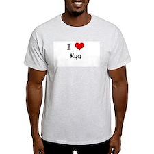 I LOVE KYA Ash Grey T-Shirt