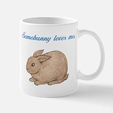 Somebunny (blue) Small Small Mug