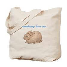 Somebunny (blue) Tote Bag