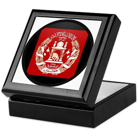 Coat of Arms of Afghanistan Keepsake Box