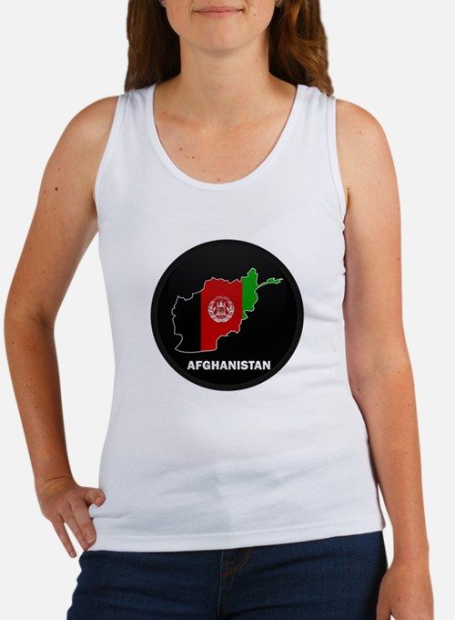 Flag Map of Afghanistan Women's Tank Top