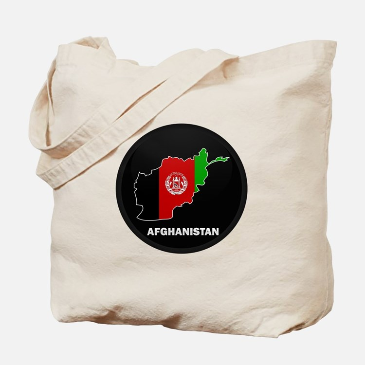Flag Map of Afghanistan Tote Bag