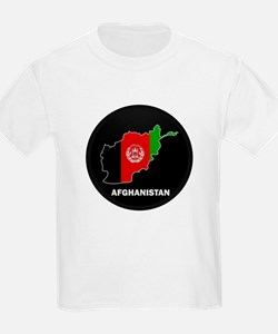 Flag Map of Afghanistan T-Shirt