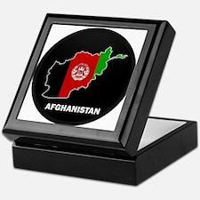 Flag Map of Afghanistan Keepsake Box