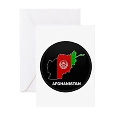 Flag Map of Afghanistan Greeting Card