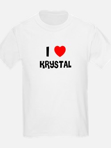 I LOVE KRYSTAL Kids T-Shirt