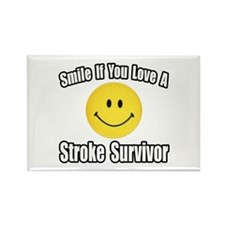 """Love a Stroke Survivor"" Rectangle Magnet"