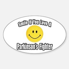 """Love a Parkinson's Fighter"" Oval Decal"