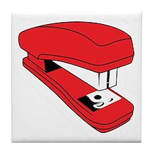 Red Stapler Tile Coaster