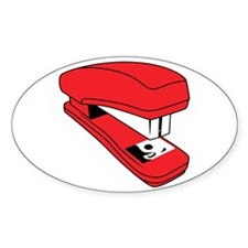 Red Stapler Oval Decal