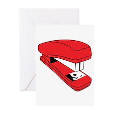 Red Stapler Greeting Card