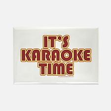 It's Karaoke Time Rectangle Magnet