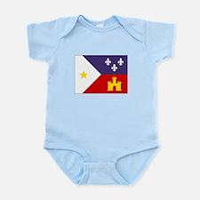 Cajun Flag Infant Bodysuit
