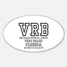 AIRPORT CODES - VRB - VERO BEACH, FLORIDA Decal