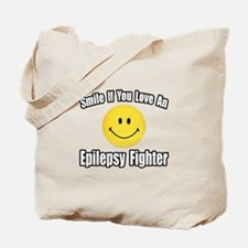 """""""Love an Epilepsy Fighter"""" Tote Bag"""