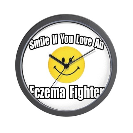 """""""Love an Eczema Fighter"""" Wall Clock"""