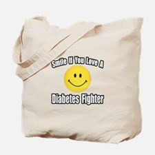 """Love a Diabetes Fighter"" Tote Bag"