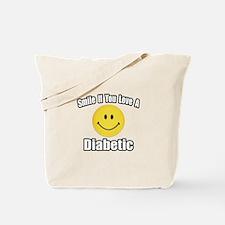 """Smile...Love a Diabetic"" Tote Bag"