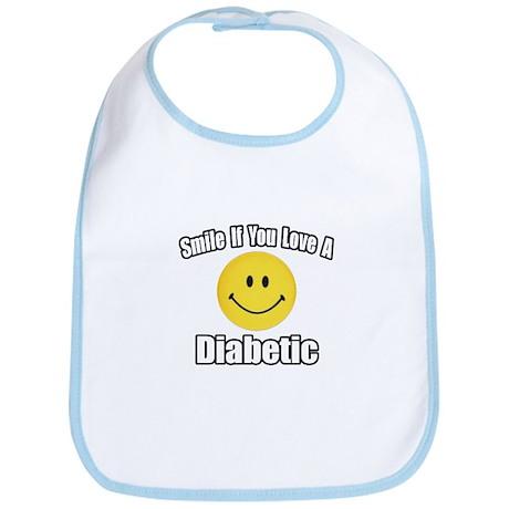 """""""Smile...Love a Diabetic"""" Bib"""