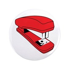 """Red Stapler 3.5"""" Button (100 pack)"""