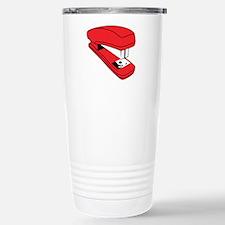 Red Stapler Stainless Steel Travel Mug