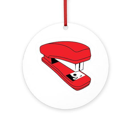 Red Stapler Ornament (Round)