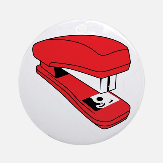 Red Stapler Ornament (Round)