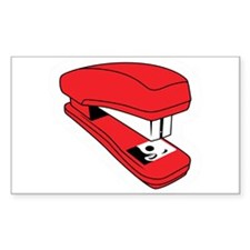 Red Stapler Rectangle Decal