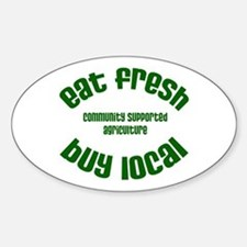 CSA Local Eats - Oval Decal