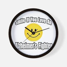 """""""Love an Alzheimer's Fighter"""" Wall Clock"""