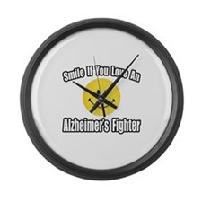 """Love an Alzheimer's Fighter"" Large Wall Clock"