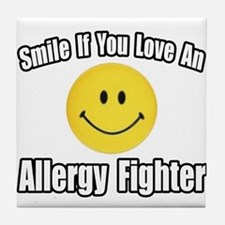 """Love an Allergy Fighter"" Tile Coaster"