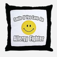 """""""Love an Allergy Fighter"""" Throw Pillow"""