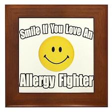 """""""Love an Allergy Fighter"""" Framed Tile"""