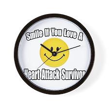 """""""Love..Heart Attack Survivor"""" Wall Clock"""