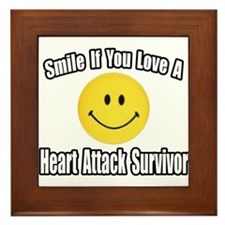 """Love..Heart Attack Survivor"" Framed Tile"