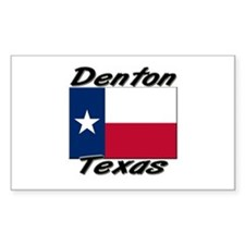 Denton Texas Rectangle Decal