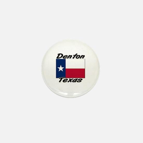 Denton Texas Mini Button
