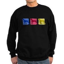 Color Row Weimaraner Sweatshirt