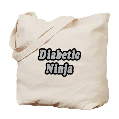 """Diabetic Ninja"" Tote Bag"