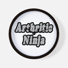 """""""Arthritic Ninja"""" Wall Clock"""
