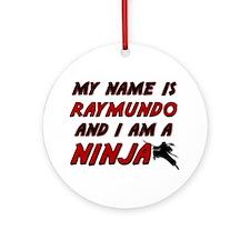 my name is raymundo and i am a ninja Ornament (Rou