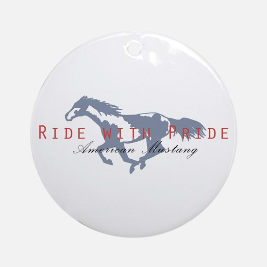 Mustang Horse Ornament (Round)