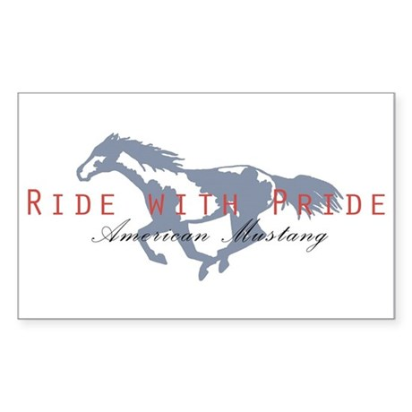 Mustang Horse Rectangle Sticker