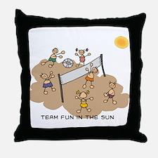 team fun in the sun Throw Pillow