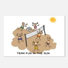 team fun in the sun Postcards (Package of 8)