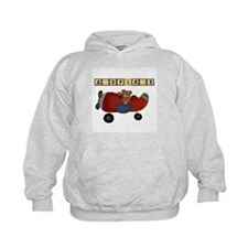 Red Airplane with Bear Hoodie