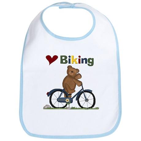 Love Biking Blue Bike Bib