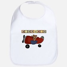 Red Airplane with Bear Bib